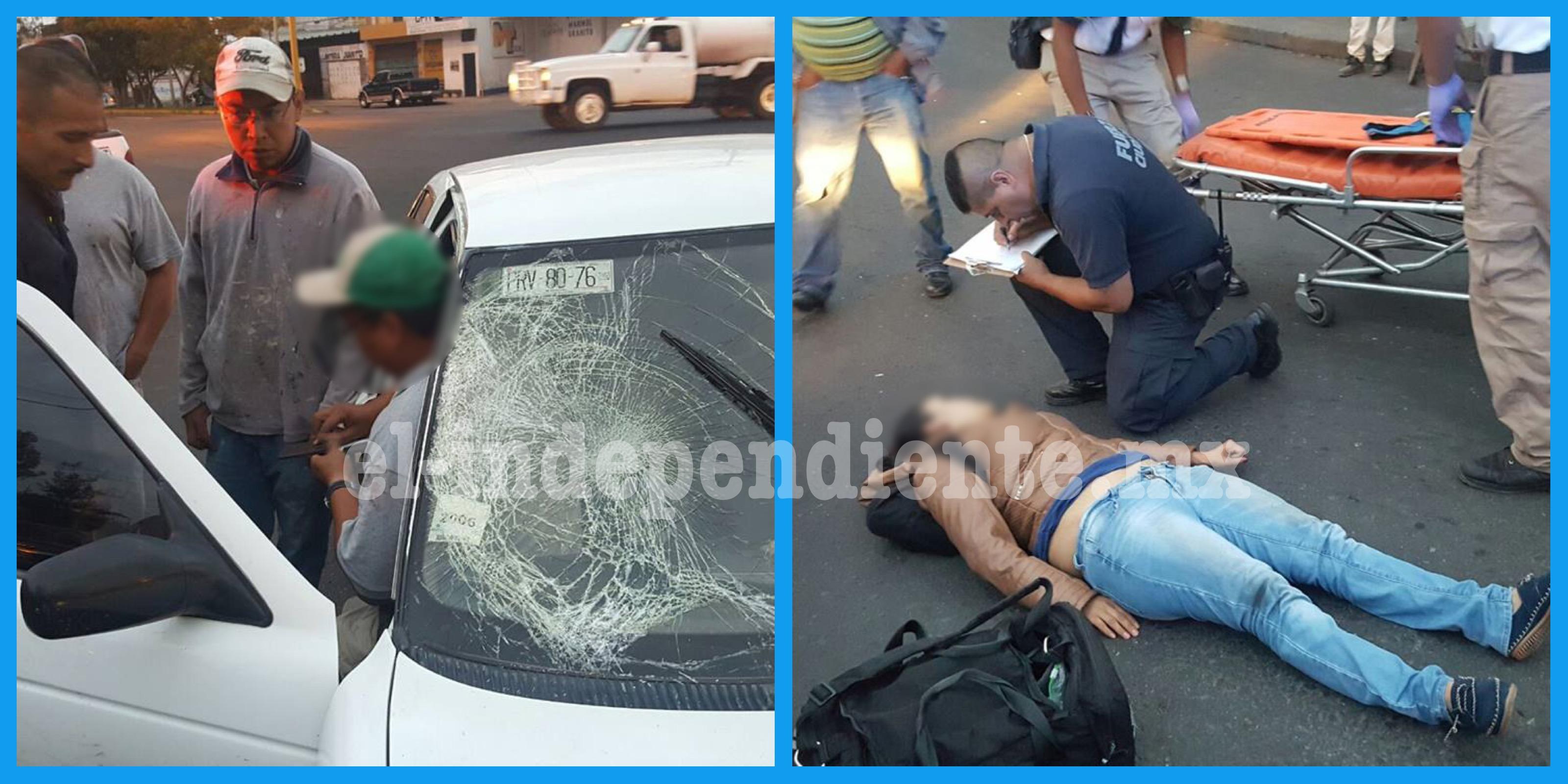 Chocan moto contra auto en la avenida Juárez; una mujer herida
