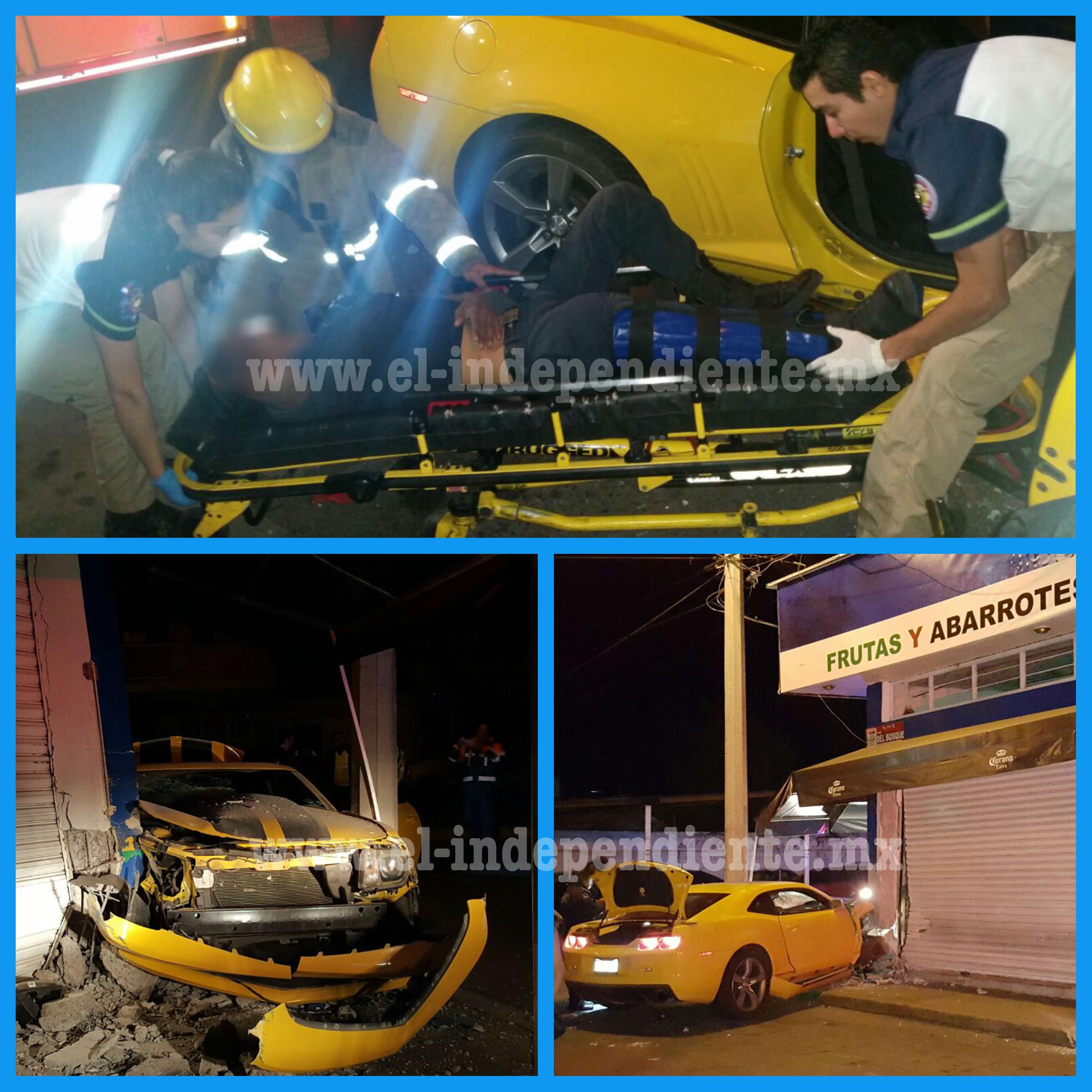 Un lesionado y cuantiosos daños material tras choque de un Camaro en Zamora