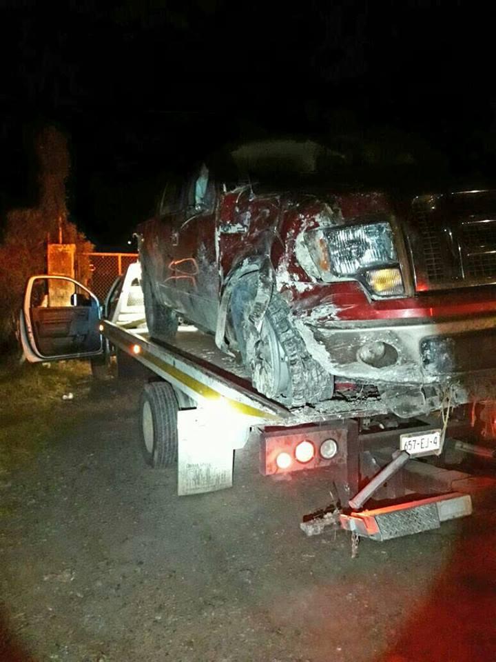 Tras persecución y enfrentamiento federales recuperan camioneta con reporte de robo
