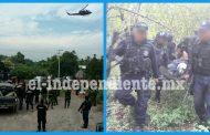 Se enfrentan a tiros policías y militares contra gatilleros