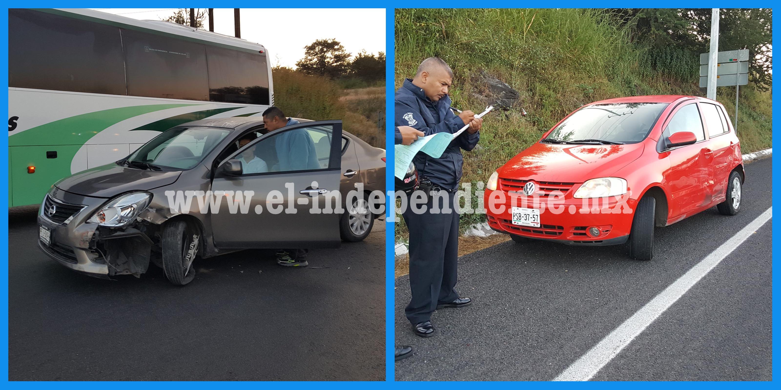 Daños materiales deja choque en Chaparaco