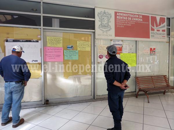 Cerraron oficinas estatales por paro de labores