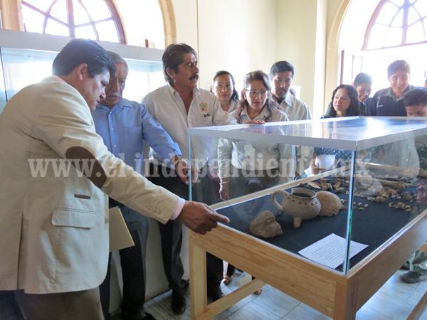Inauguran sala de exposición arqueológica en antiguo edificio de presidencia municipal