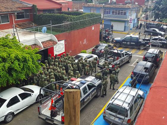 Federación y Estado realizan operativo coordinado para preservar la seguridad en Uruapan