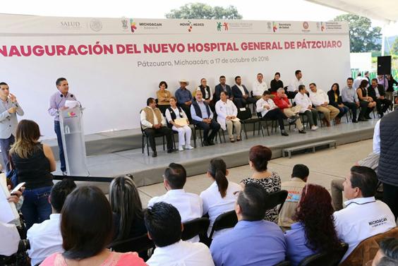 Inaugura Gobernador nuevo Hospital General de Pátzcuaro