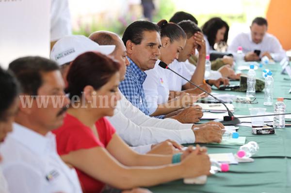 Preside Gobernador 2a Reunión con el Comité Ciudadano de Felipe Carrillo, municipio de Buenavista