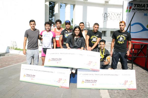 Exitoso primer Triatlón Inter-Municipal