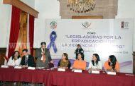 Congreso del Estado promueve acciones contra la violencia de género
