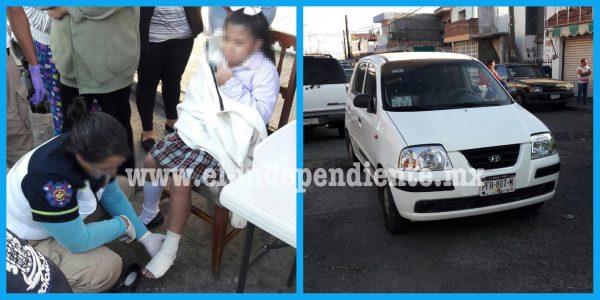 A unos pasos de su escuela, niña es atropellada en el Infonavit Arboledas