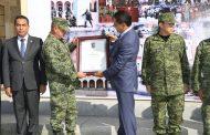 Reconoce GCM trabajo de general Gurrola en Michoacán