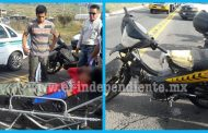 Camioneta embiste a menor motociclista y se da a la fuga, en Zamora