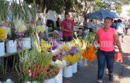 Vendedores de flores hacen su agosto en pleno noviembre