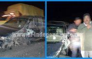 Trailero impacta contra una camioneta en la carretera Zamora – La Piedad y se da a la Fuga