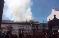 Arde comercio de semillas y abarrotes en Purépero