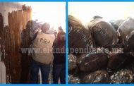 Asegura PGJE 392 kilogramos de marihuana en domicilio del municipio de Jacona