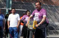 Arrancó la rehabilitación de la cancha de basquetbol en la Plaza del Limón