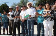 Alcalde inauguró cancha de usos múltiples en comunidad Plaza del Limón