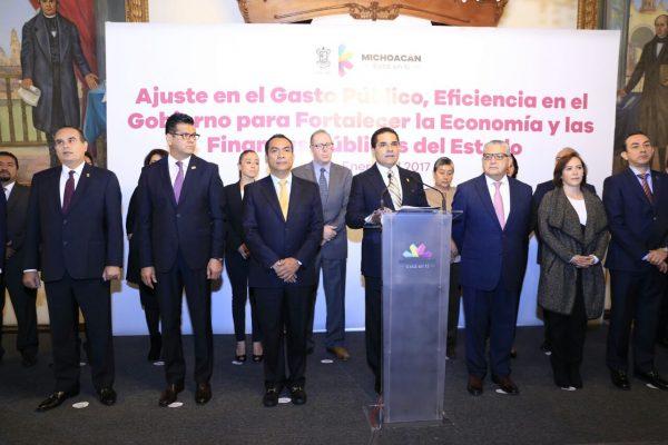 Presenta Gobernador Acuerdo del Ajuste de Eficiencia en el Gasto Público y Fortalecimiento a la Economía Familiar