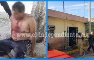 Ex policía le prende fuego a su casa y se clava un cuchillo en el cuello; en Zamora