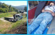 Vuelca camión de carga en la carretera Zamora - La Barca