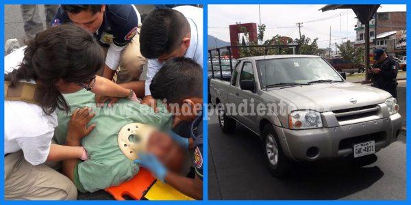 Sexagenario es atropellado por una camioneta en la calle Ferrocarril