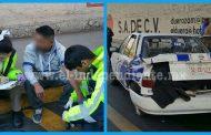 Un herido leve y cuantiosos daños materiales tras choque de taxi y auto particular en Zamora