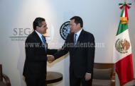Sostiene Silvano Aureoles encuentro con Miguel Ángel Osorio Chong
