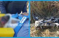 Entre la vida y la muerte motociclista accidentado en el libramiento de Zamora