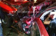 5 lesionados tras aparatoso choque en Tangamandapio