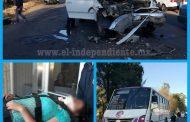 Choca camión contra camioneta en Jacona; tres campesinos heridos