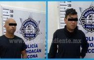 Policía y agricultor requeridos en Jacona les encontraron crystal