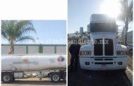 Aseguran SSP y Sedena tractopipa con más de 24 mil litros de combustible, en Zamora