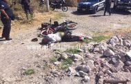 Pistoleros ultiman a motociclista en las calles de Sahuayo