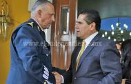 Dialogan Gobernador y Cienfuegos sobre Ley de Seguridad Interior