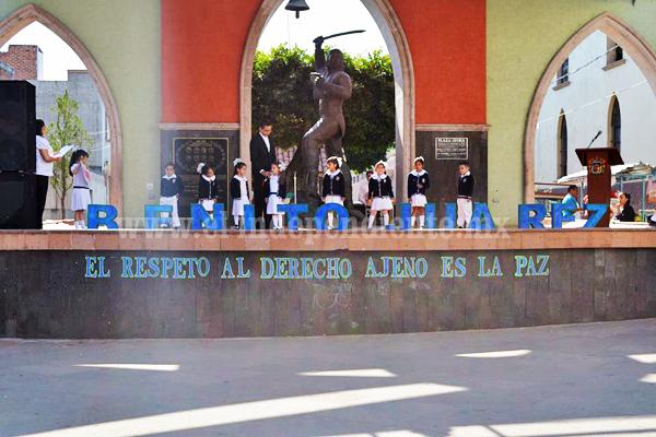 Conmemoran en Jacona el 211 natalicio de Benito Juárez