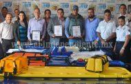 Protección Civil Municipal recibió en donativo equipo
