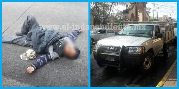 Quincuagenario es embestido por una camioneta en la zona centro de Jacona