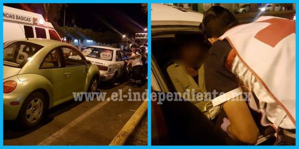 Carambola vehicular deja una mujer herida y daños materiales en Zamora