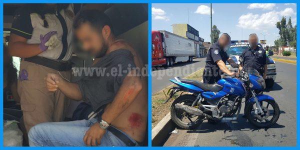 Camioneta embiste a pareja y huye, en Zamora