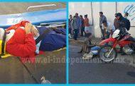 """Mujer herida en choque de """"moto"""" y bicicleta"""