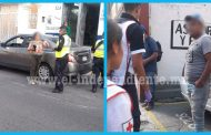 Motociclista impacta contra la puerta abierta de un vehículo en el centro de Zamora