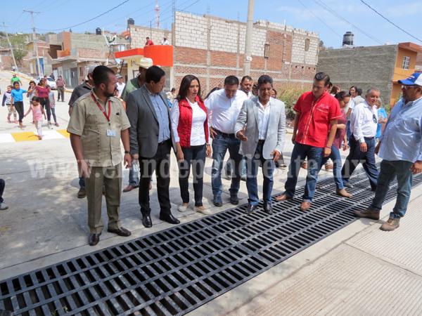Inauguran pavimentaciones en Jacona con una inversión superior a los 10 mdp