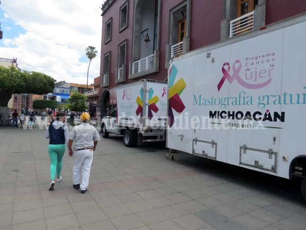 Centro de salud Niños Héroes ofrece unidad móvil de mastografía