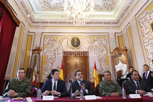Encabezan Gobernador y Presidente Municipal instalación del Grupo de Coordinación Local de Morelia