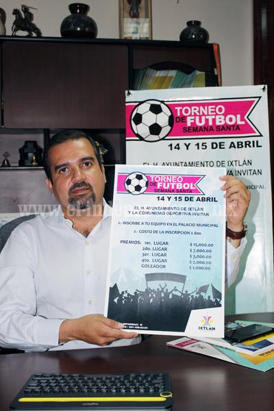 Todo listo para celebración del tradicional Torneo de Semana Santa de Futbol