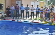 Inauguran cursos de natación en Tangancícuaro