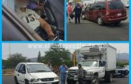Una lesionada y cuantiosos daños materiales deja carambola en la Zamora - Carapan