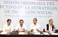 Revisan Gobierno Estatal y Federal Estrategia Nacional de Inclusión Social