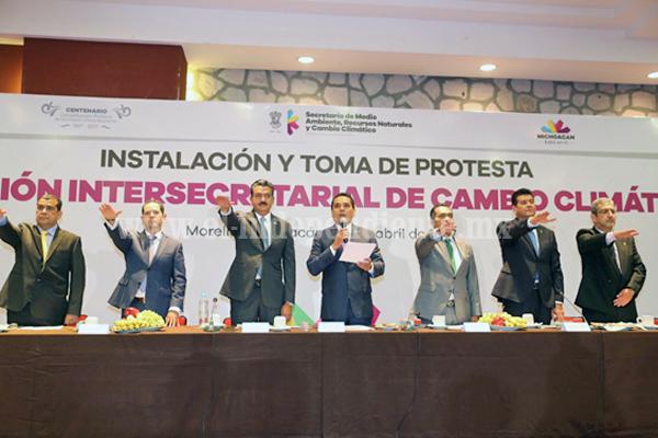 Instala Gobernador Comisión Intersecretarial de Cambio Climático