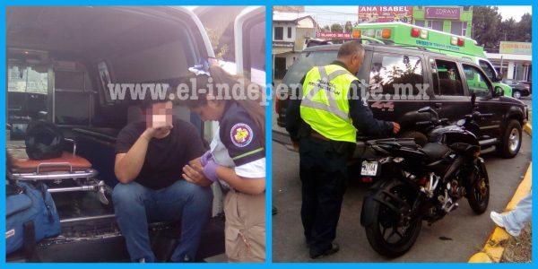 Chocan a motociclista en Zamora